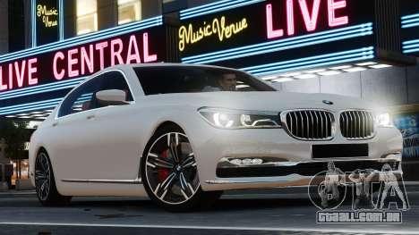 BMW 7-er 2016 para GTA 4 esquerda vista