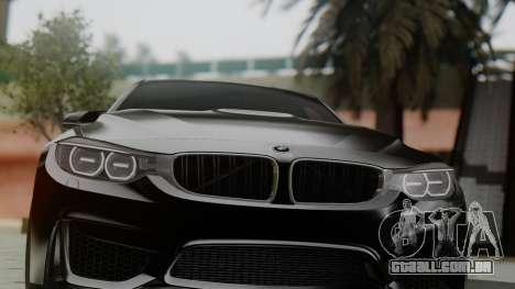 BMW M3 F30 SEDAN para GTA San Andreas vista traseira