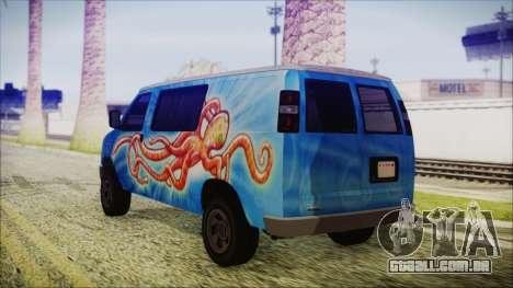GTA 5 Bravado Paradise Octopus Artwork para GTA San Andreas esquerda vista