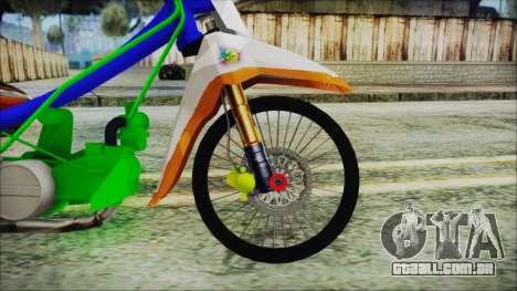 Supra X para GTA San Andreas traseira esquerda vista