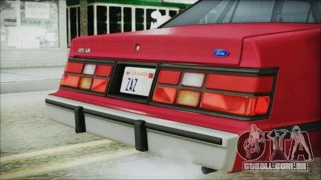 Ford LTD LX 1986 para GTA San Andreas vista traseira