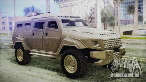 GTA 5 HVY Insurgent Van para GTA San Andreas