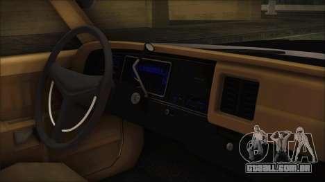 Dodge Monaco 1974 LVPD IVF para GTA San Andreas vista direita