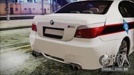 BMW M5 E60 Bosnian Police para GTA San Andreas vista traseira