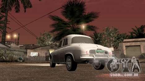 Willys-Overland Gordini III 1966 - Beta para GTA San Andreas traseira esquerda vista