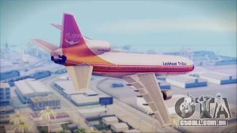 Lockheed L-1011 TriStar Prototype para GTA San Andreas esquerda vista