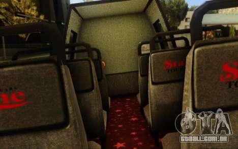 TMZ Tourbus para GTA San Andreas vista traseira