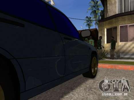 Subaru Forester 1998 para GTA San Andreas vista inferior