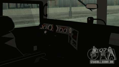 Hummer H1 Limo 6x6 para GTA San Andreas traseira esquerda vista