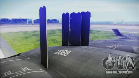 B-2A Spirit Stealth Bomber para GTA San Andreas traseira esquerda vista