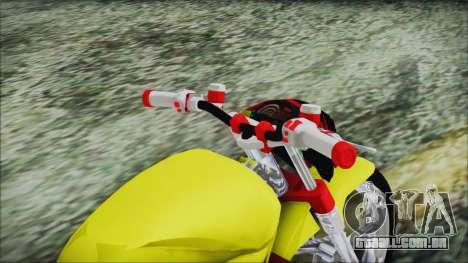 Yamaha Tuning Full Cromo para GTA San Andreas vista traseira