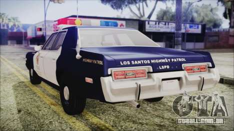 Dodge Monaco 1974 LSPD Highway Patrol Version para GTA San Andreas esquerda vista