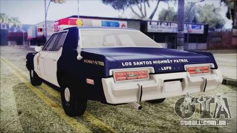 Dodge Monaco 1974 LSPD Highway Patrol Version para GTA San Andreas esquerda vista