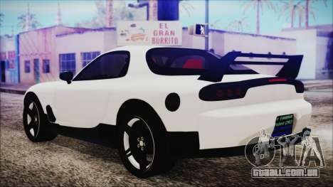 Mazda RX-7 Enhanced Version para GTA San Andreas esquerda vista