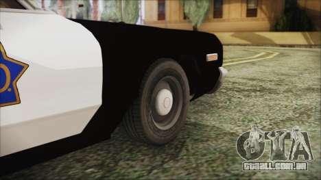 Dodge Monaco 1974 SFPD para GTA San Andreas traseira esquerda vista