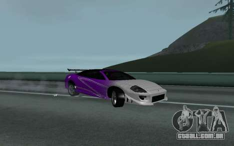 Mitsubishi Eclipse GTS Tunable para GTA San Andreas vista direita