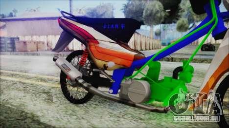 Supra X para GTA San Andreas vista direita