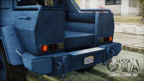 GTA 5 HVY Insurgent Pick-Up IVF para GTA San Andreas vista superior