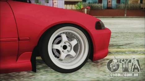 Honda Civic EG6 Hellaflush para GTA San Andreas traseira esquerda vista