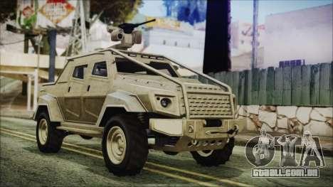 GTA 5 HVY Insurgent Pick-Up para GTA San Andreas