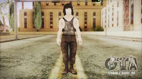 Rambo Shirt para GTA San Andreas segunda tela