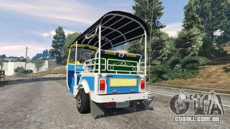 GTA 5 Tuk-Tuk traseira vista lateral esquerda