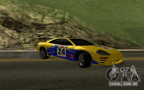 Mitsubishi Eclipse GTS Tunable para GTA San Andreas vista inferior