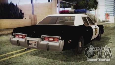 Dodge Monaco 1974 LVPD IVF para GTA San Andreas esquerda vista