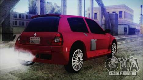 Renault Clio v6 Tunable para GTA San Andreas esquerda vista
