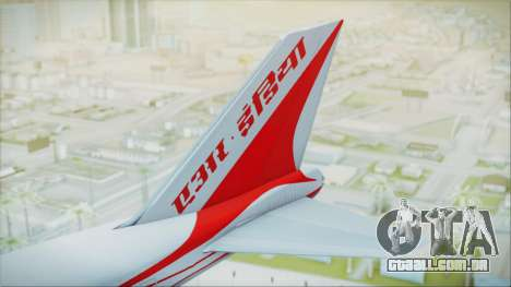 Boeing 747-237Bs Air India Samudragupta para GTA San Andreas traseira esquerda vista