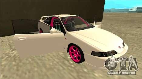 Honda Integra Drift para GTA San Andreas vista inferior