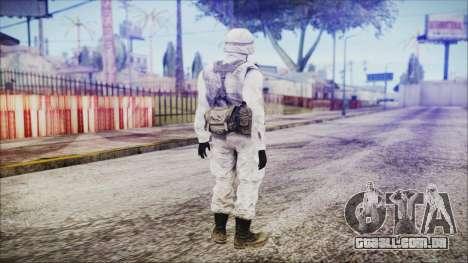 World In Conflict US Marine Winter para GTA San Andreas terceira tela