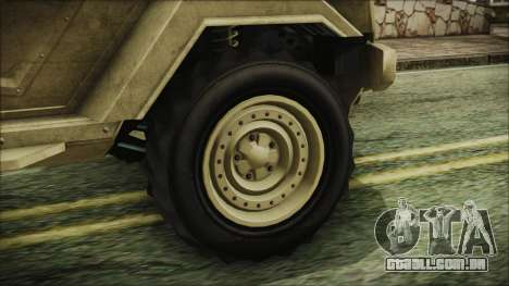 GTA 5 HVY Insurgent Pick-Up para GTA San Andreas traseira esquerda vista