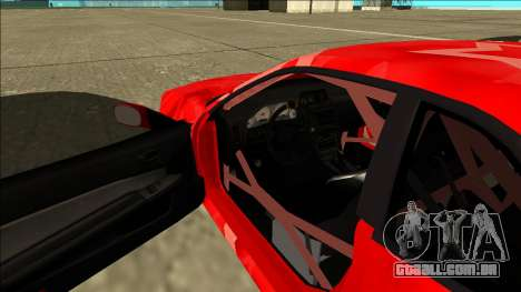 Nissan Skyline R34 Drift Red Star para GTA San Andreas vista interior
