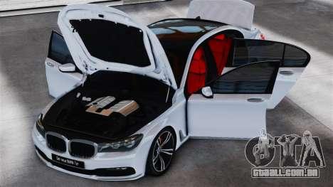 BMW 7-er 2016 v2.0 para GTA 4 traseira esquerda vista