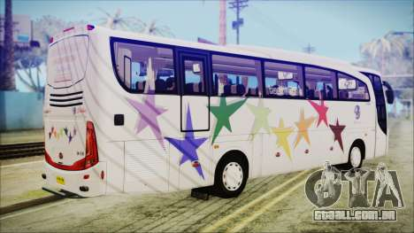 Starbus 34XM para GTA San Andreas esquerda vista