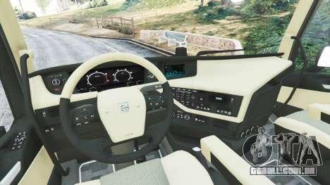 GTA 5 Volvo FH 750 2014 traseira direita vista lateral