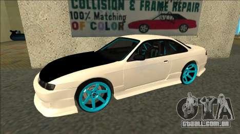 Nissan Silvia S14 Drift para GTA San Andreas esquerda vista