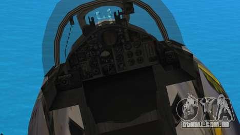 McDonnell Douglas F-4N Hellenic Air Force para GTA San Andreas vista traseira