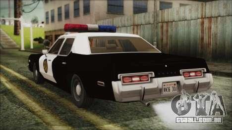 Dodge Monaco 1974 LVPD para GTA San Andreas esquerda vista
