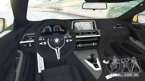 GTA 5 BMW M6 2013 traseira direita vista lateral