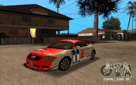 Audi TT 2004 Tunable para GTA San Andreas vista traseira