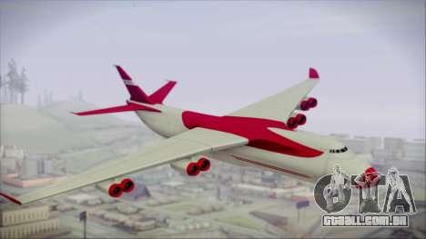 GTA 5 Cargo Plane para GTA San Andreas