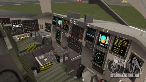 B-2A Spirit Stealth Bomber para GTA San Andreas esquerda vista