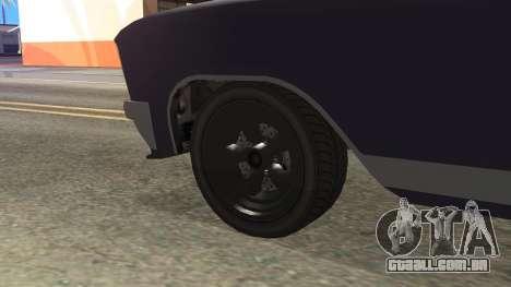 GTA 5 Albany Lurcher Cabrio Style para GTA San Andreas traseira esquerda vista