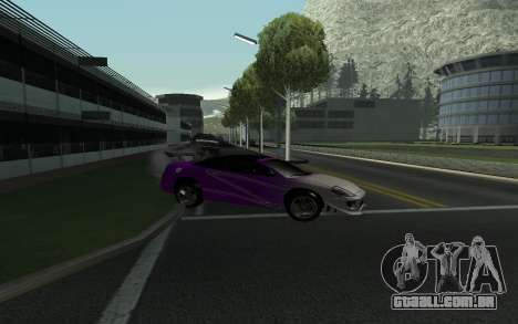 Mitsubishi Eclipse GTS Tunable para GTA San Andreas vista interior