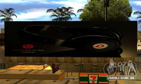 Monster Beats Studio by 7 Pack para GTA San Andreas por diante tela