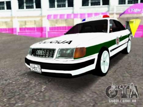 Audi 100 C4 1995 Police para GTA San Andreas