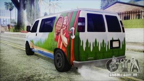 GTA 5 Bravado Paradise Lumberjack Artwork para GTA San Andreas esquerda vista