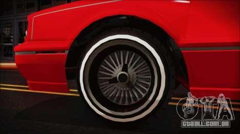 GTA 5 Albany Primo Custom No Interior para GTA San Andreas traseira esquerda vista